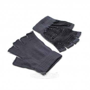 Anti Slip Yoga Gloves - Grey