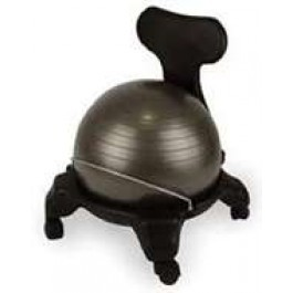 Gym Ball Chair W/Back Support