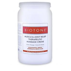 Biotone Muscle & Joint Therapeutic Massage Cream (1/2 Gallon)