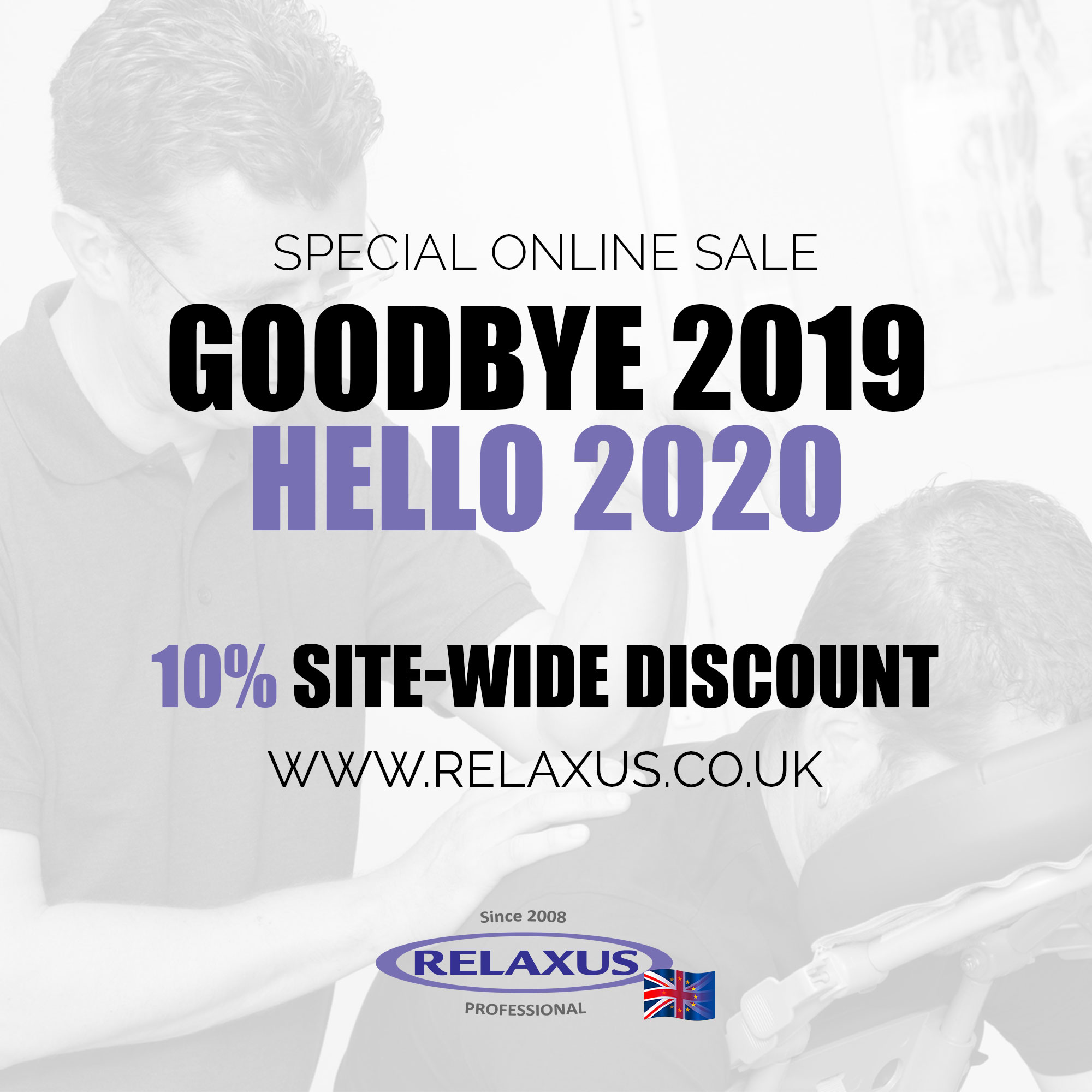 End of Year 2020 Online Sale on Relaxus UK