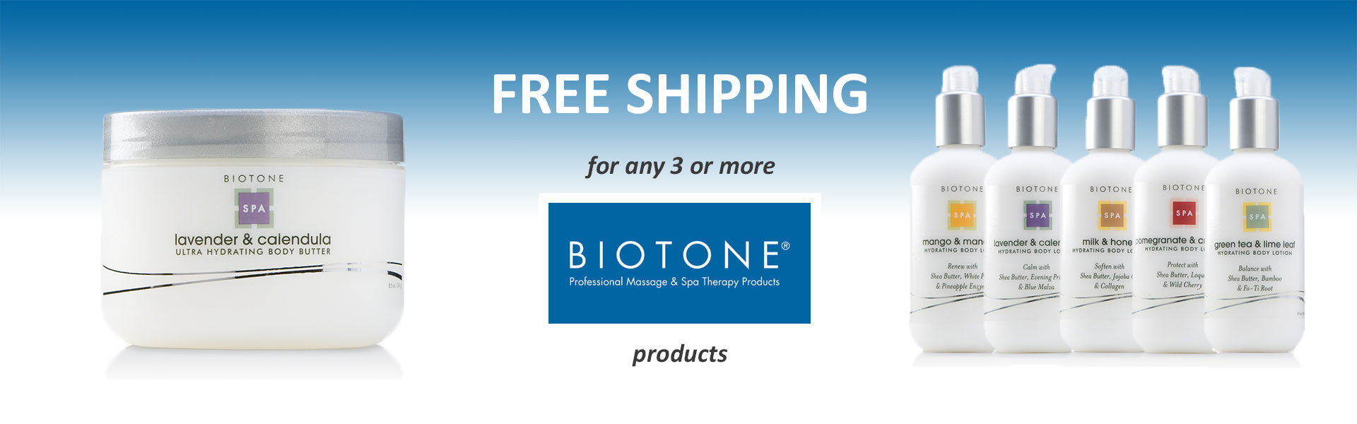 Free Shipping for any 3 or more BIOTONE products